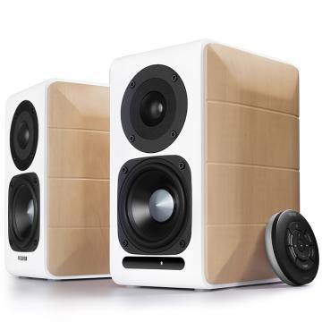漫步者 S880 Hi-Res 精致HIFI有源2.0音箱 音响 电脑音箱 电视音响 木纹色