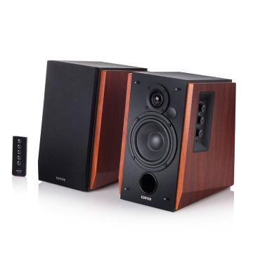 漫步者 R1700BT 4英寸2.0电脑音响 多媒体音响 蓝牙音箱 音响 木纹色