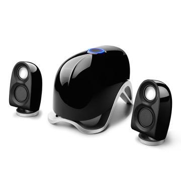漫步者 e1100MKII电脑多媒体音响2.1声道外观仿生造型立体声低音炮音箱 黑色
