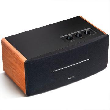 漫步者 D12 2.0声道 一体式桌面立体声音响音箱 木质多媒体音响 电脑音箱 蓝牙音箱 黑色