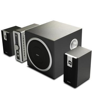 漫步者 C2 2.1声道多媒体音箱音响带独立功放台式机笔记本电脑低音炮 黑色