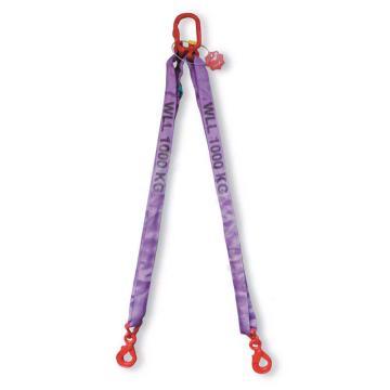 多来劲 双腿圆形吊装带组合吊具,2.8T×2m(总长)80级眼形自锁安全吊钩,0544 2802 02