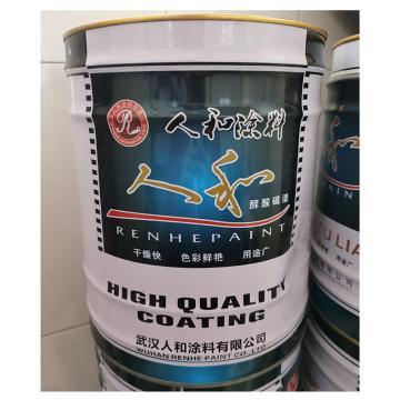 人和涂料 醇酸磁漆 G6661,中黄,15kg/桶
