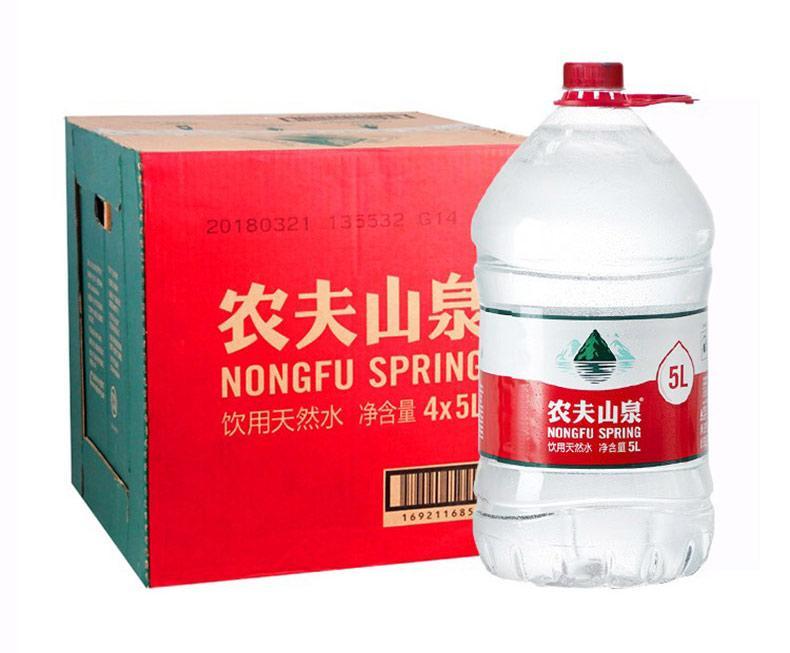 农夫山泉 天然饮用水,5L*4瓶 箱装(按箱起售)
