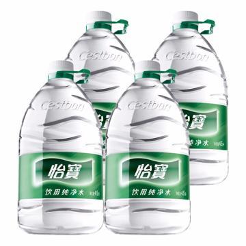 怡宝 纯净水,4.5L*4瓶 箱装