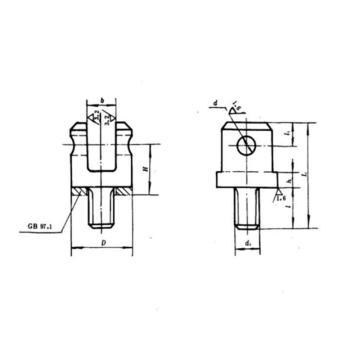 YLT 铰链叉座,GB2248-80 8mm