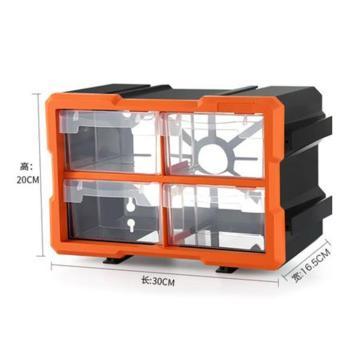 西域推荐 组合式工具盒四抽1804