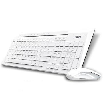 雷柏 8200P 无线键鼠套装,白色