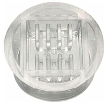 赋耘 一次性圆形水晶模(半格),Φ30×18mm,100个/包 ,225030018
