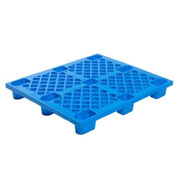 Raxwell 网格九脚托盘,尺寸:1200×1000×140mm,动载:500kg,静载:2000kg,蓝色