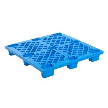 Raxwell 网格九脚托盘,尺寸:1100×1100×140mm,动载:500kg,静载:2000kg,蓝色