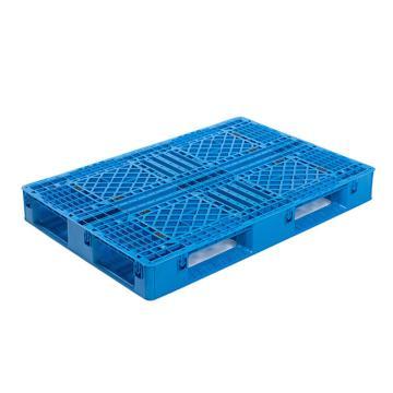 Raxwell 网格田字托盘,尺寸:1200×800×135mm,动载:1000kg,静载:3000kg,蓝色