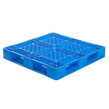 Raxwell 网格田字托盘,尺寸:1100×1100×150mm,动载:700kg,静载:3000kg,蓝色