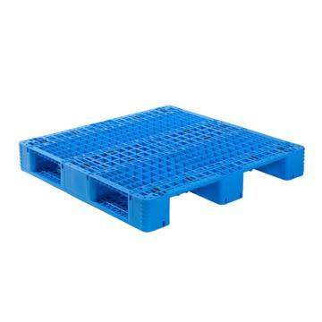 Raxwell 网格川字托盘,尺寸:1100×1100×150mm,动载:1000kg,静载:4000kg,蓝色