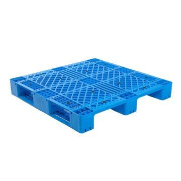 Raxwell 网格川字托盘,尺寸:1200×1200×160mm,动载:1000kg,静载:4000kg,蓝色