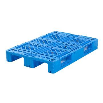 Raxwell 网格川字托盘,尺寸:1200×800×150mm,动载:1000kg,静载:4000kg,蓝色