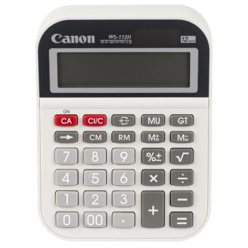 佳能 商务办公桌面计算器,WS-112H 小号 12位