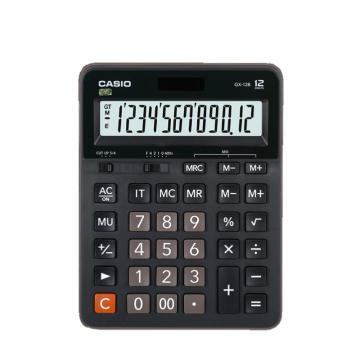卡西欧 常规计算器,GX-12B 黑色