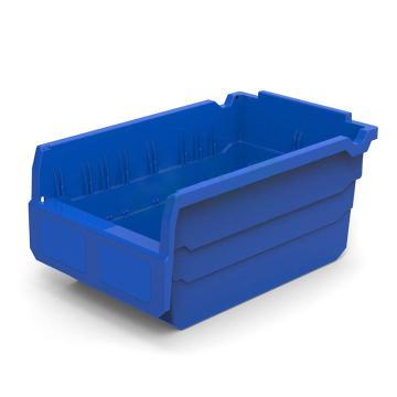 力王 货架物料盒,300*200*150mm,全新料,不含分隔片,SF3215-蓝色,单位:个