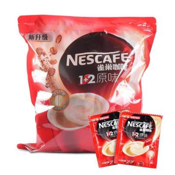 雀巢(Nestle) 咖啡1+2原味,15g*100包 (方包袋装)