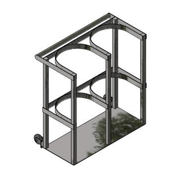 西域推荐 氧气瓶固定架,长75*宽32*高80cm,进口内径32cm