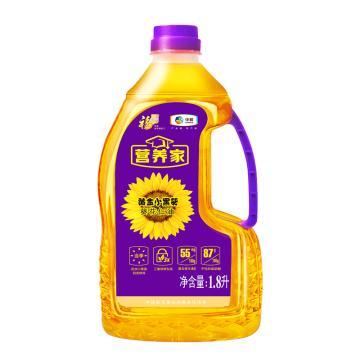 福临门 营养家 黄金小黑葵葵花仁油,1.8L 不饱和脂肪酸含量高 中粮出品 (一件代发)
