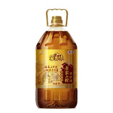 福临门 家香味 老家土榨菜籽油,5L+700ml 古法压榨 富含营养 中粮出品 (一件代发)