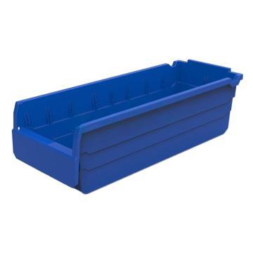 力王 货架物料盒,500*200*150mm,全新料,不含分隔片,SF5215-蓝色,单位:个