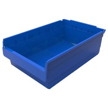 力王 货架物料盒,600*400*200mm,全新料,不含分隔片,SF6420-蓝色,单位:个