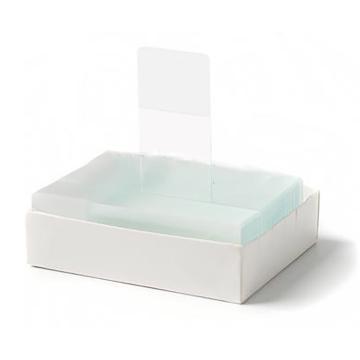 病理级显微镜载玻片,超白玻璃材质,抛光边,45° 角,50片/盒,50盒/箱