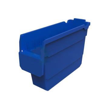 力王 货架物料盒,300*100*200mm,全新料,不含分隔片,SF3120-蓝色,单位:个