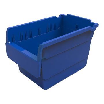 力王 货架物料盒,300*200*200mm,全新料,不含分隔片,SF3220-蓝色,单位:个