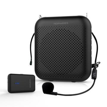 诺为无线版小蜜蜂扩音器4000毫安大容量教师专用播放器蓝牙音箱喇叭导游耳麦S358pro黑色 单位:台