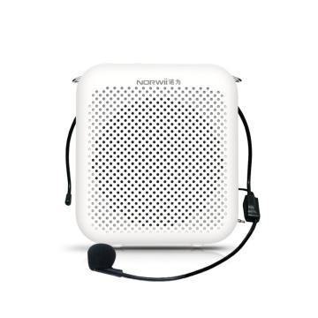 诺为 小蜜蜂扩音器2000毫安教师用麦克风音箱喇叭导游耳麦上课宝 S358 有线版 白色 单位:台
