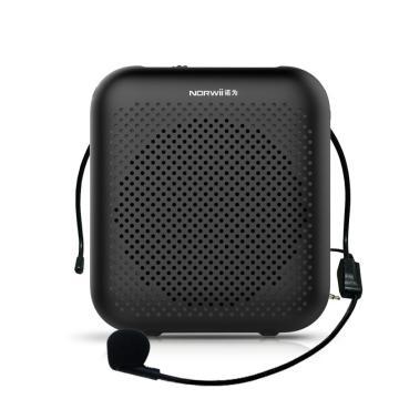 诺为 小蜜蜂扩音器2000毫安教师用麦克风音箱喇叭导游耳麦上课宝 S358 有线版 黑色 单位:台