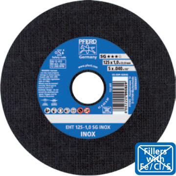 马圈 碳钢/不锈钢切割片,125×1.0×22.23,25片/盒,4007220499733