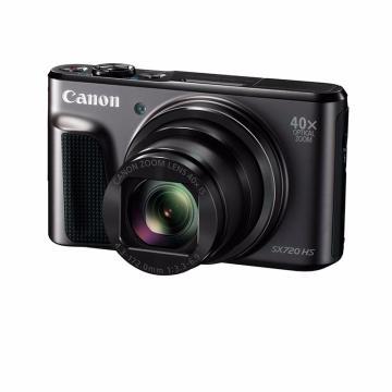 佳能 PowerShot SX720 HS 相机照相机40倍长焦望远摄月高清数码相机 sx720黑色