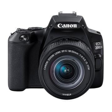 佳能 200d二代 2代 入门级单反相机 vlog便携家用迷你单反数码照相机 黑色200DII EF-S18-55套机