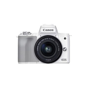 佳能 m50二代 微单相机 2代 数码相机 自拍美颜微单套机 白色 Vlog m50 二代白色 15-45套机