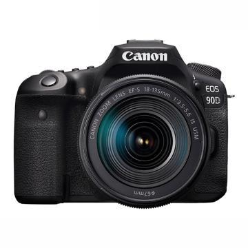 佳能(Canon) EOS 90D 中端数码单反相机 家用旅游4K高清视频90D 佳能90D+18-135mm USM镜头