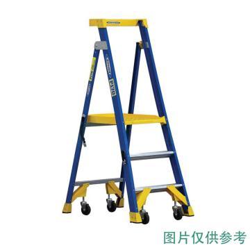 稳耐 单侧平台人字梯,踏板数:5 额定载荷(KG):170 工作高度(米):1.5,P170-5CN FG