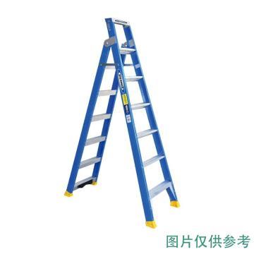 稳耐 玻璃钢两用梯 人字梯级数:8 人字梯长(m):2.43 直梯级数:14,DP6008CN(库存有限,售完即止)