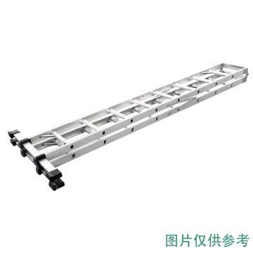Raxwell 铝合金可折叠双侧人字梯,踏板数:11 额定载荷(KG):150 人字高度(米):4,RMLT0004
