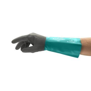 安思尔Ansell 丁腈防化手套,防滑,AlphaTec,58-535B-9