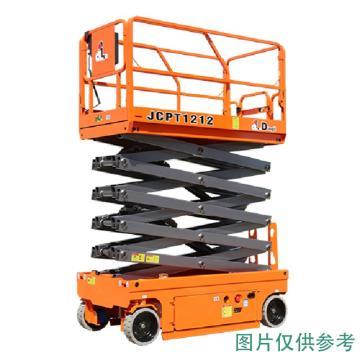 鼎力 自行走剪叉式高空作业平台,工作载荷(kg):450 工作高度(m):10 液压马达驱动,JCPT1012HA