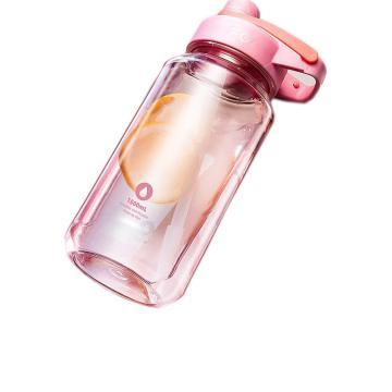 富光 星迈太空杯,DAS2002-1500粉色塑料杯大容量运动健身水杯户外便携太空杯