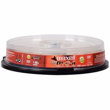 麦克赛尔(maxell)DVD-R光盘 刻录光盘 光碟 空白光盘 16速4.7G台产 桶装10片