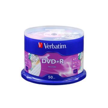 威宝Verbatim 雾银龙16速 4.7G DVD+R 空白光盘 50片桶装 dvd刻录盘 63405