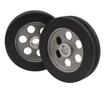 时代,埋弧焊行走小车轮,直径约118mm,安装孔径约:15mm
