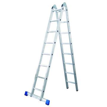 金锚 铝合金可折叠两用梯,踏板数:8 额定载荷(KG):150 人字高度(米):2.27,AC51-208